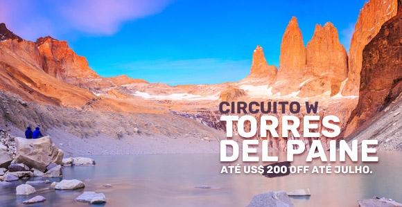 Pacote para viagem para Torres del Paine