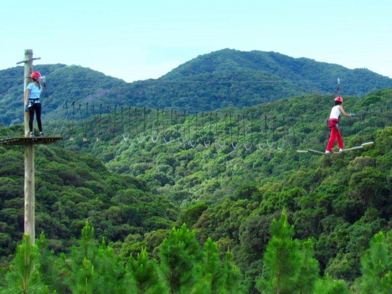 Circuito de Arvorismo e Tirolesa - Paraíso EcoLodge - Intervales