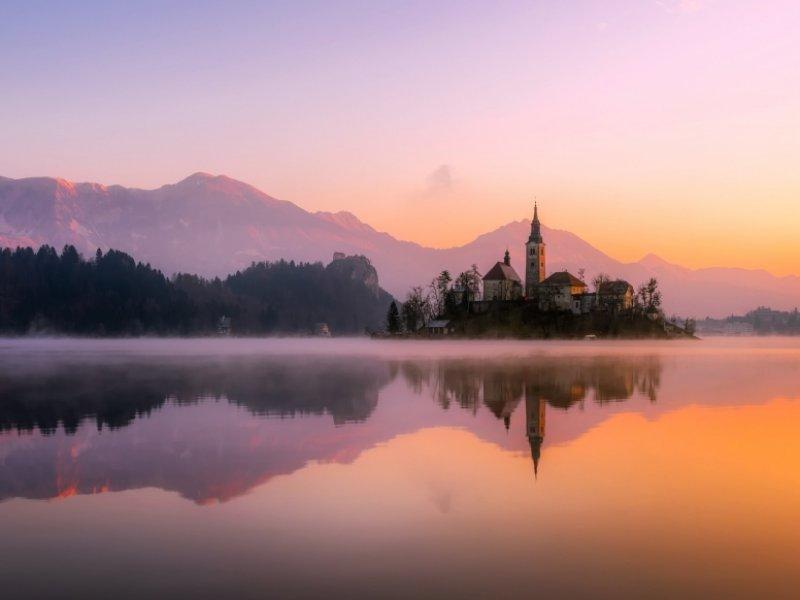 Lago Bled na Eslovênia