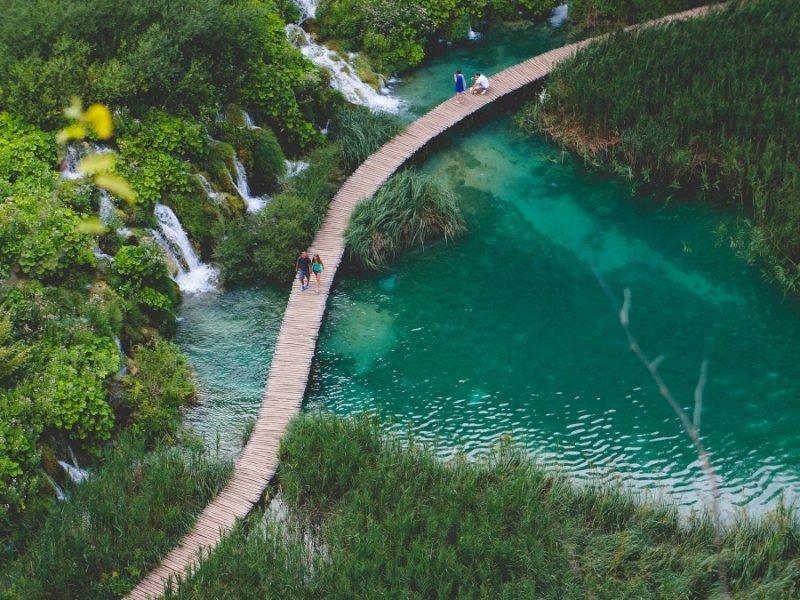 Parque Nacional Plitvice no Verão