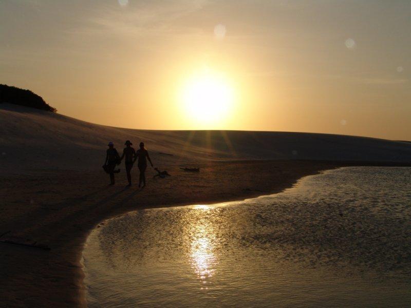 Pôr do sol na Lagoa Azul