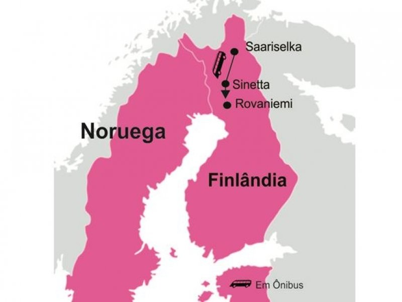Laponia (Finlandia) - Mapa