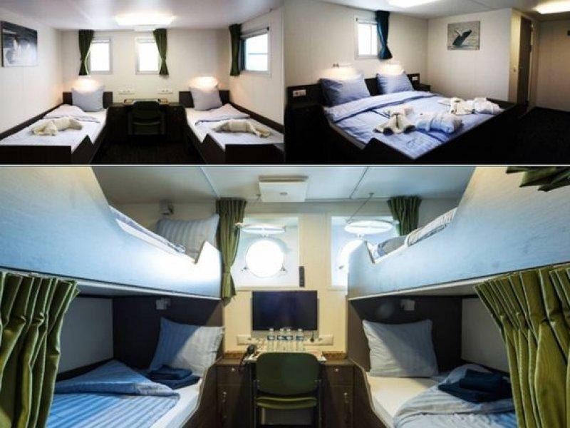 cabines - MV Ortelius - Antartica