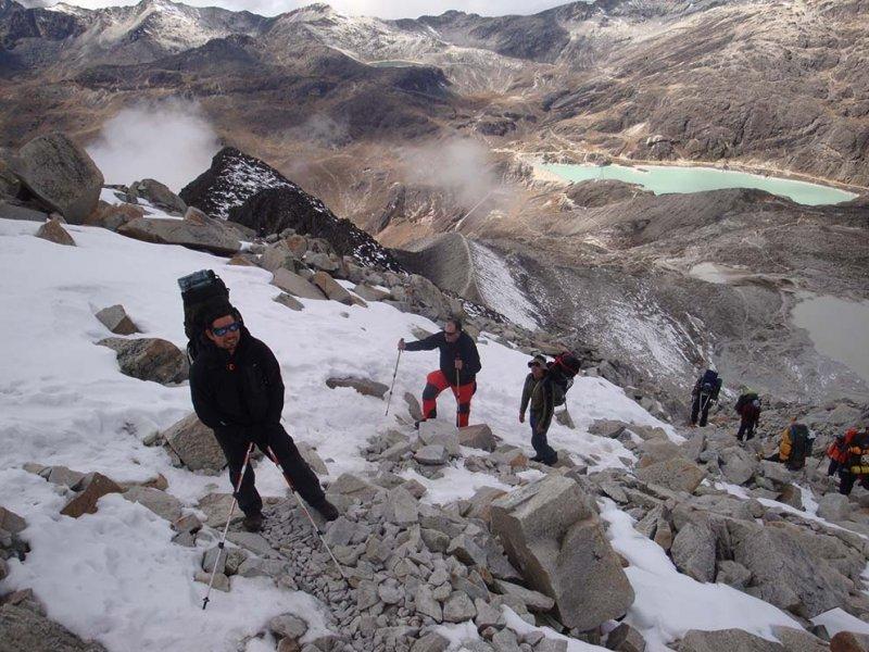 Caminhada Campo Alto Huayna Potosi