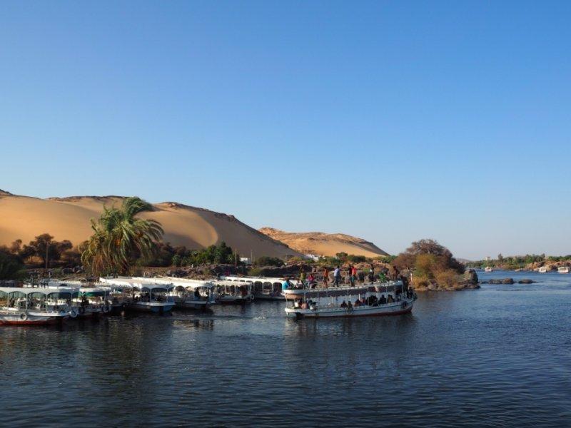 Rio Nilo em Aswan