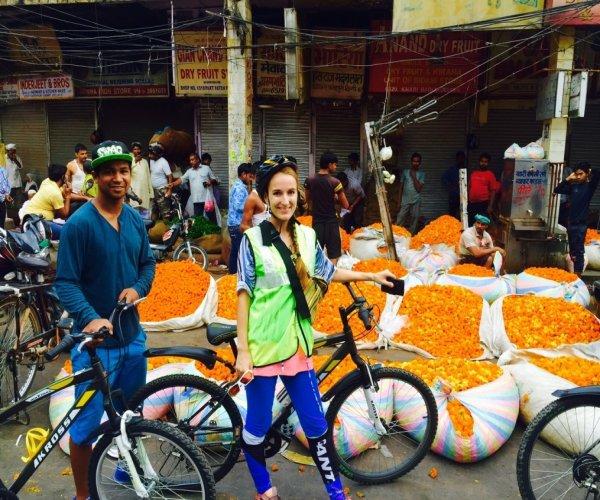 Passeio de bicicleta em Delhi