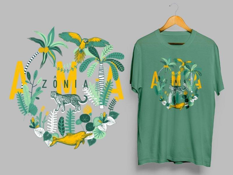 Camiseta Dry Fit Manga Curta Amazônia