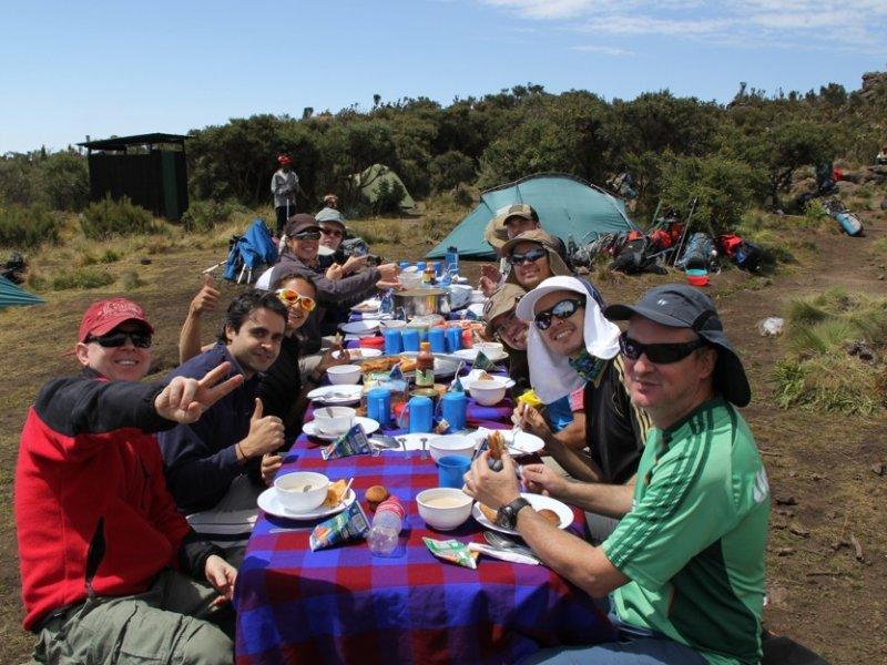 Almoço na montanha