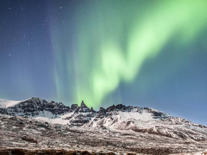 Aurora Boreal - A Dança das Luzes no inverno da Islândia