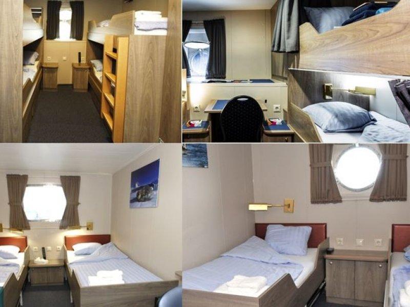 cabines - MV Plancius - Antartica