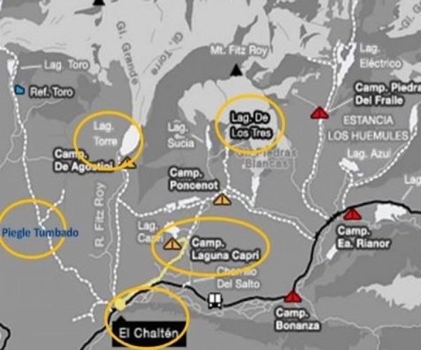 Mapa Chalten