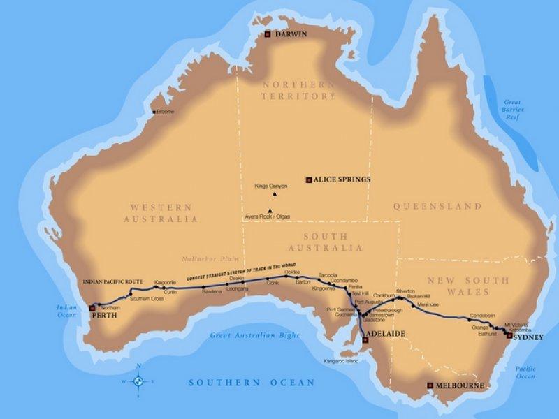 mapa rota trem