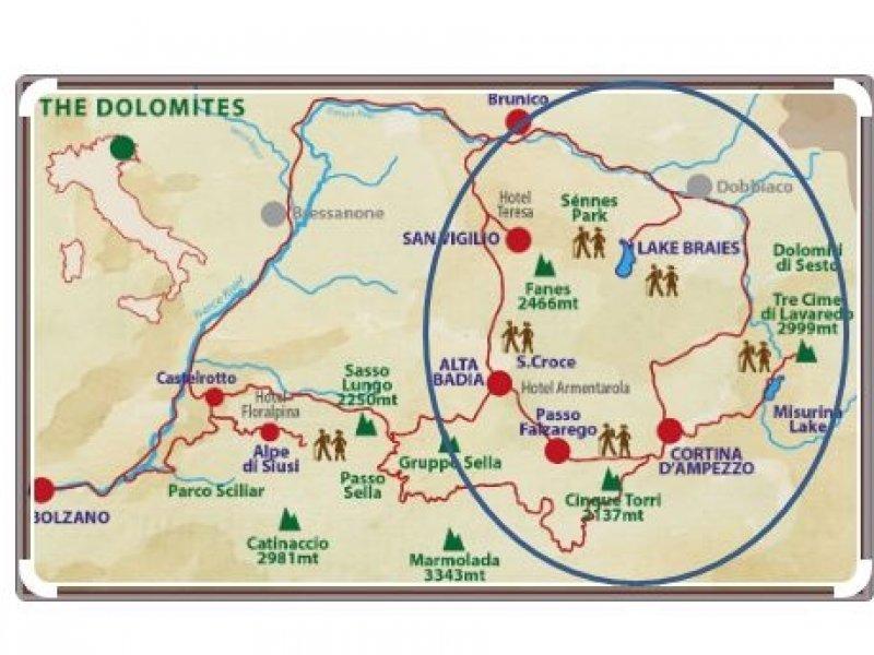Mapa Alta Via 1