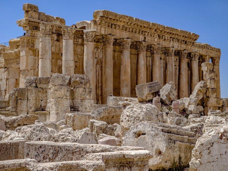Ruínas greco-romanas no Líbano